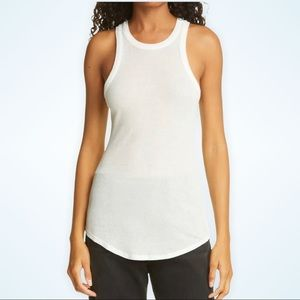 NWT NSF Clothing Dien Ribbed Tank Top - Soft White